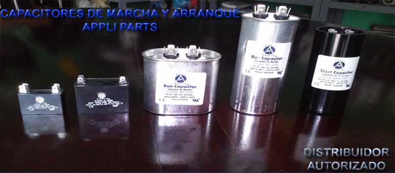capacitores de marcha 1.5mf hasta 80mf y arranque 110mf hasta 1000mf appliparts